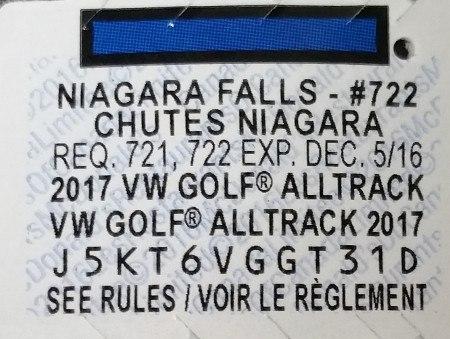 2016 McDonalds Monopoly Piece Niagara Falls #722