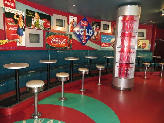 Classic Cola Memorabilia inside Always Refreshing Soda Shop