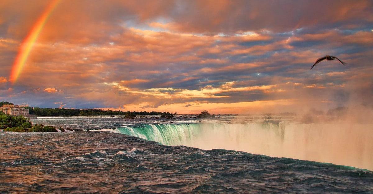 Niagara Falls Sunset Marriott Niagara Falls Hotel