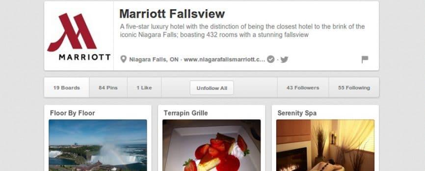 Pinterest Niagara Falls Marriott Hotel