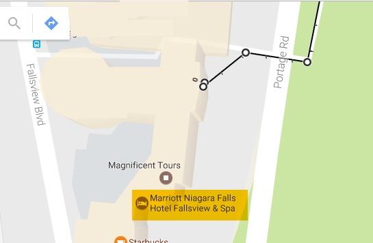 Marriott Fallsview Rear Entrance Google Map