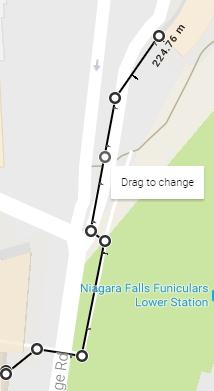 Niagara Falls Hotel to Fallsview Casino Walking Route