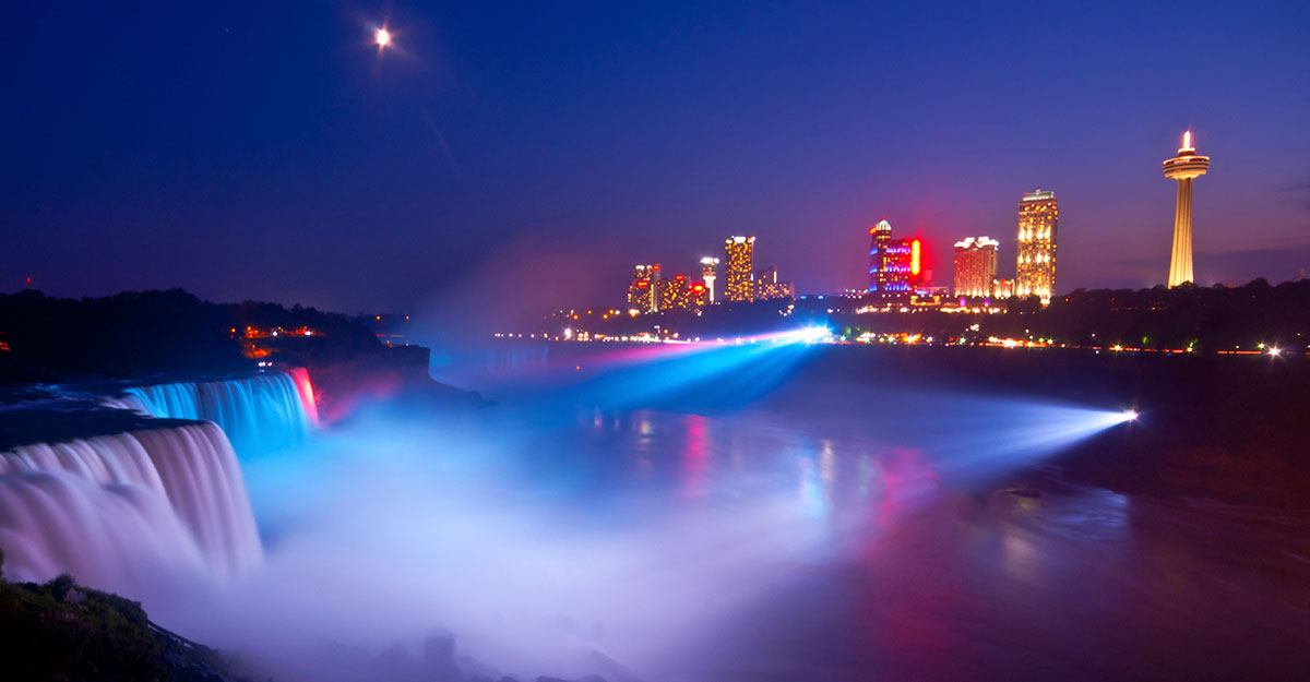 Niagara Falls Lights Show and Illumination