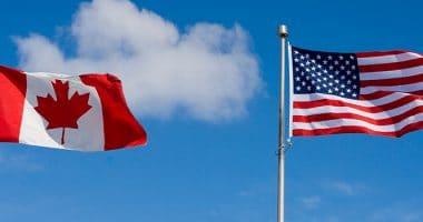 Canada & USA Flags