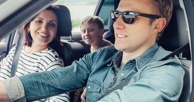 Family Driving To Niagara Falls